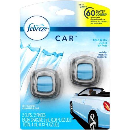 Febreze Car Vent Clips Linen   Sky Air Freshener  2 Ml  2Ct