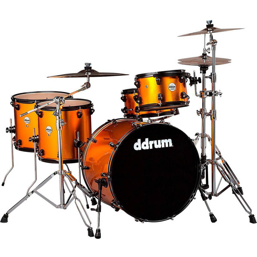 ddrum Journeyman 5-Piece Rambler, Blaze Orange by ddrum