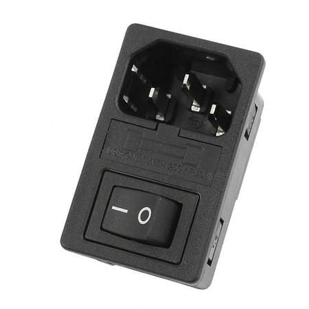 Light Boat Rocker Switch IEC 320 C14 Inlet Power Socket