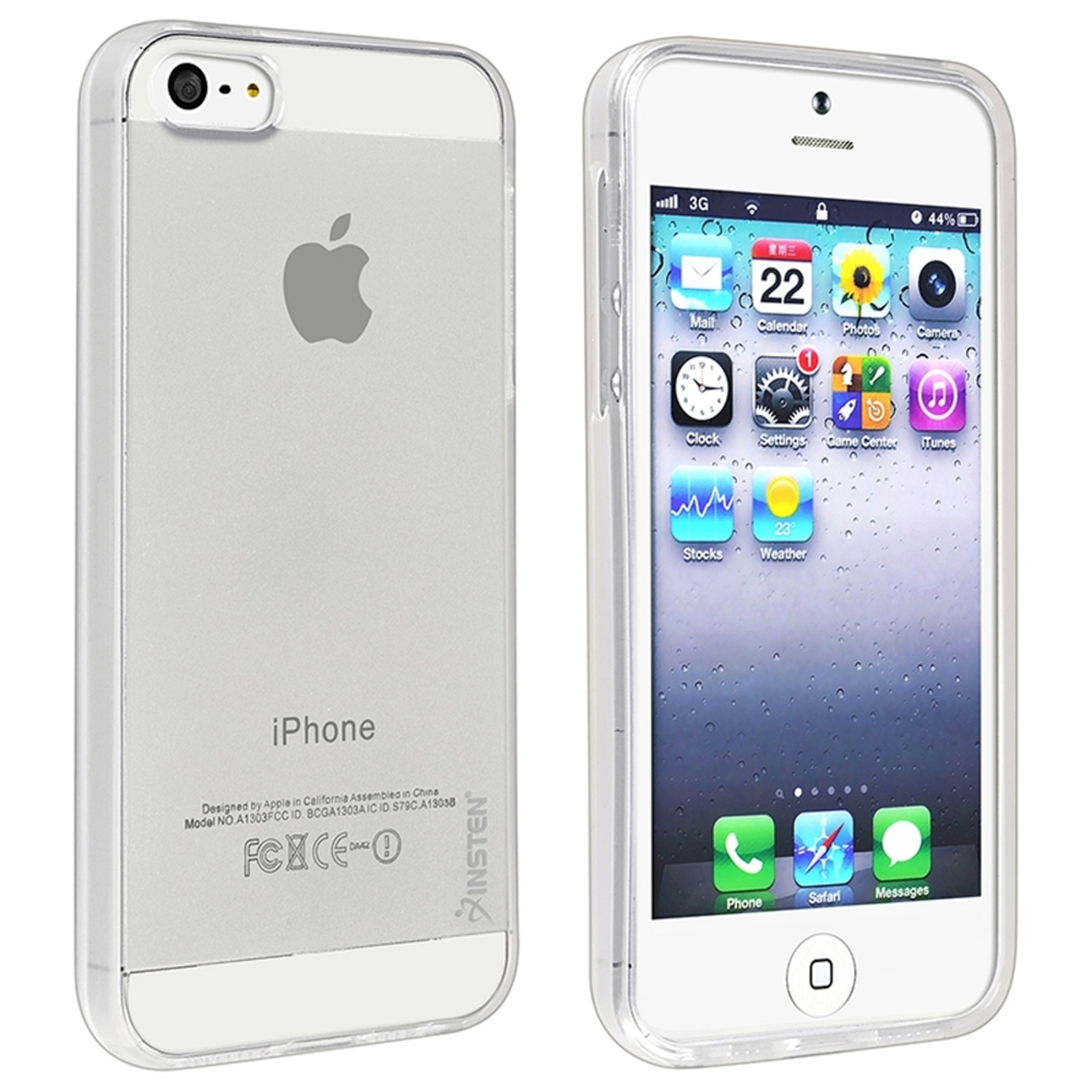 Insten TPU Rubber Skin Case For Apple iPhone SE / 5 / 5s, Clear