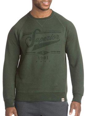 Men's Hanes 1901 Heritage Long Sleeve Graphic V-Notch Raglan Sweatshirt