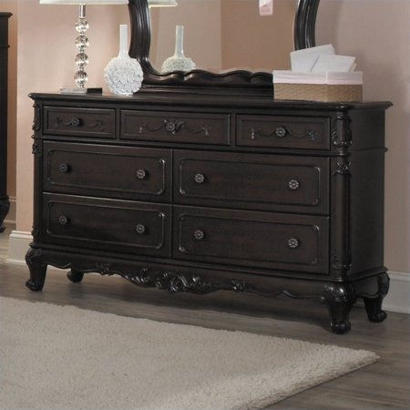 Trent Home Cinderella Dresser in Dark Cherry Finish