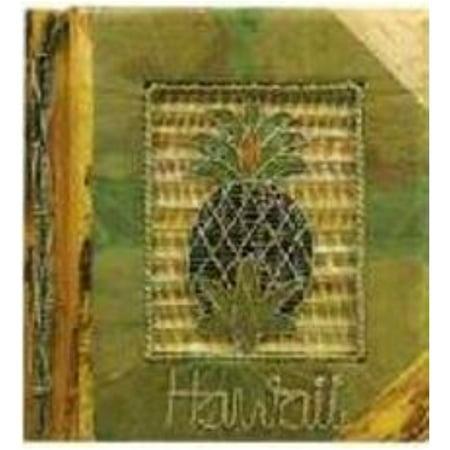 "Hawaiian Photo Album Green Leaf Pineapple 9"" x 11"""