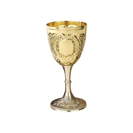 Design Toscano The King's Royal Chalice Embossed Brass Goblet