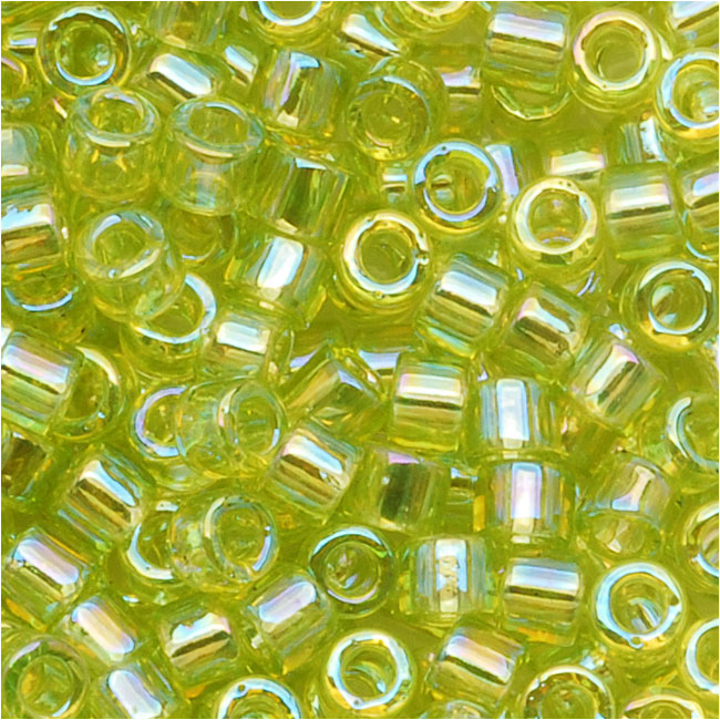 Miyuki Delica Seed Beads 10/0 Transparent Chartreuse AB DBM0174 8 Grams