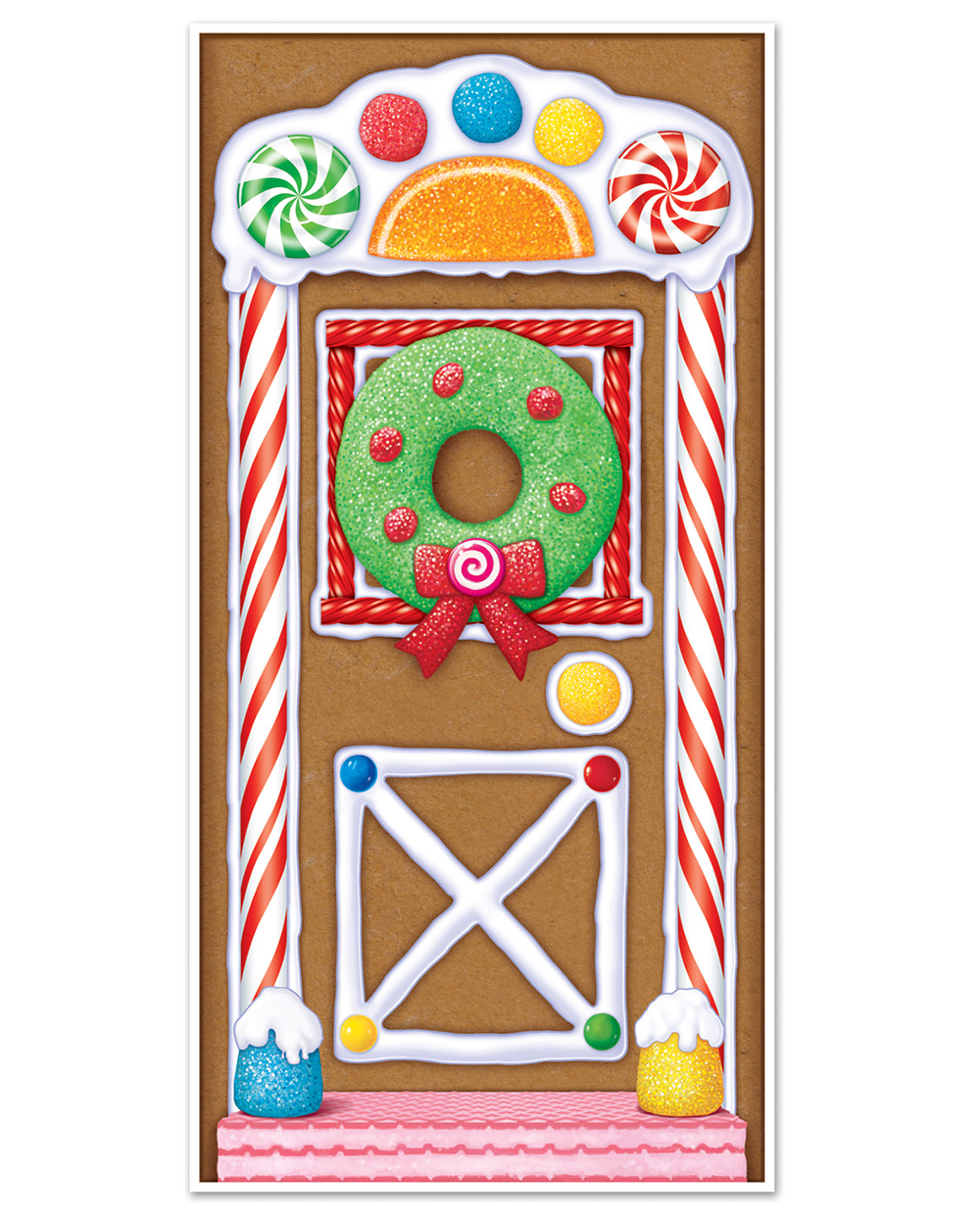 sc 1 st  Walmart & Gingerbread House Door Cover - Walmart.com