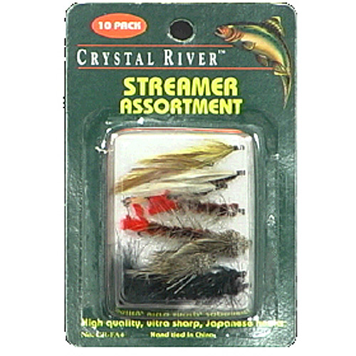 Crystal River 10pk Streamer Flies, Assorted