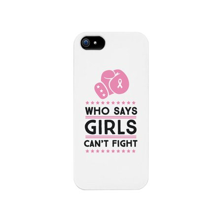 Suzys Case (Who Says Girls Can't Fight White Phone Case)