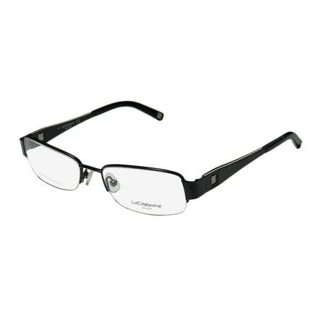 5aaefd439be New Liz Claiborne 363 Womens Ladies Designer Half-Rim Black   White  Stainless Steel American Designer Frame Demo Lenses 53-17-135  Eyeglasses Eye Glasses