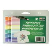Uchida 530-6B Marvy Brush Tip Pastel Color Fabric Marker Set