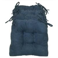 U-Shape Cushion for Dining Chair - Set of 4 (Indigo)