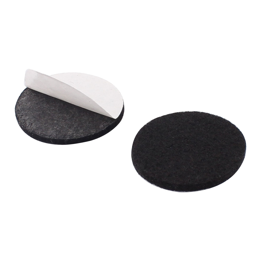 Household Self Adhesive Protect Furniture Felt Pads Mats Black 30mm 10pcs - image 1 of 2