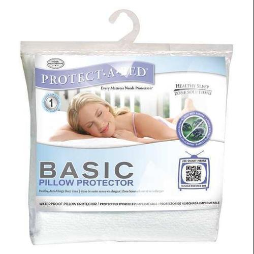 PROTECT-A-BED BAS0180 Pillow Protector,King,Poly,PK6 G0283860