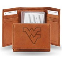 NCAA West Virginia Embossed Leather Trifold Wallet