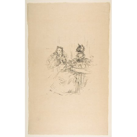 """Afternoon Tea Poster Print by James McNeill Whistler (American Lowell Massachusetts 1834  """"1903 London) (18 x 24) ()"""