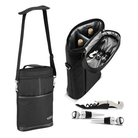 Beer Storage - Versatile Bottle Wine Carrier Insulated Travel Picnic Beer Storage Bag Case + Corkscrew PVC Oxford Fabric