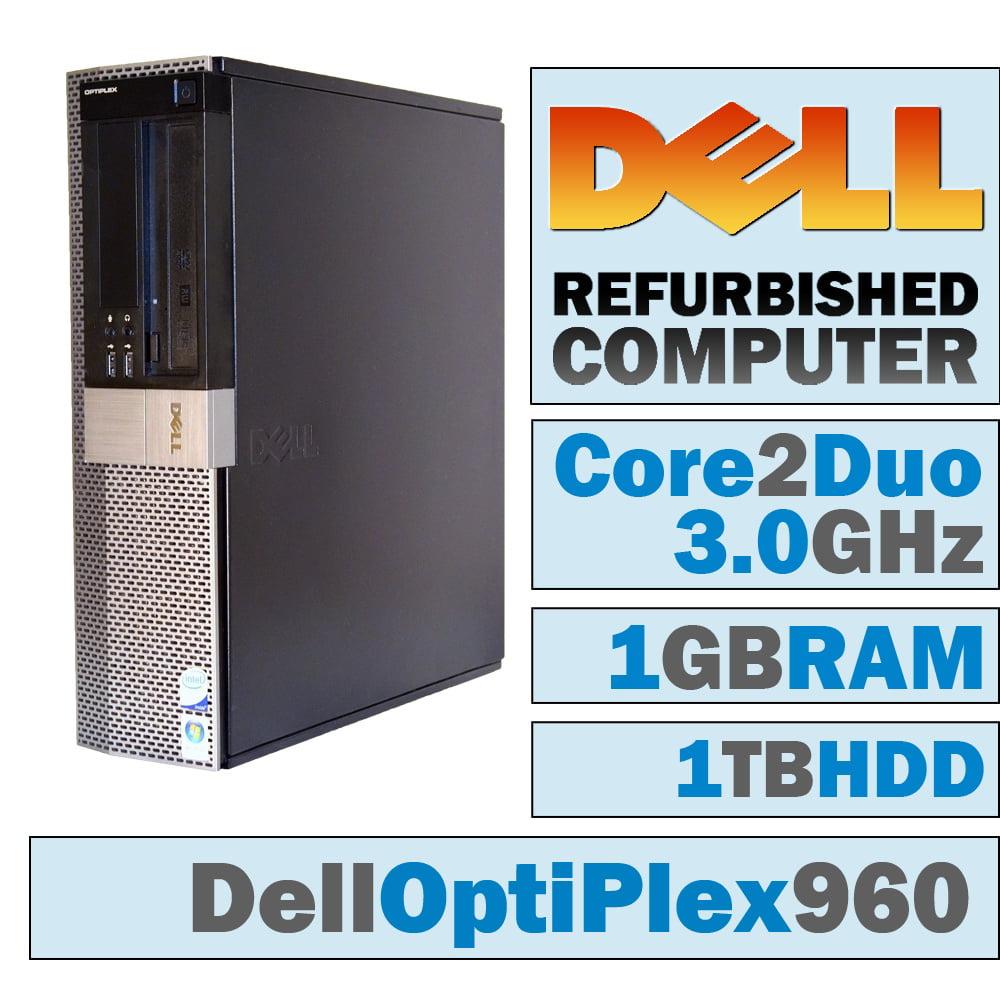 REFURBISHED Dell OptiPlex 960 DT/Core 2 Duo E8400 @ 3.00 GHz/1GB DDR2/1TB HDD/DVD-RW/WINDOWS 7 PRO 32 BIT