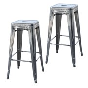 AmeriHome Loft 30 inch Chrome Silver Metal Bar Stool 2 Piece by Buffalo Corp