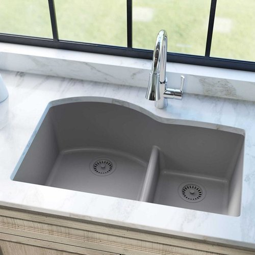 Elkay Quartz Class 33 X 22 Double Basin Undermount Kitchen Sink Walmart Com