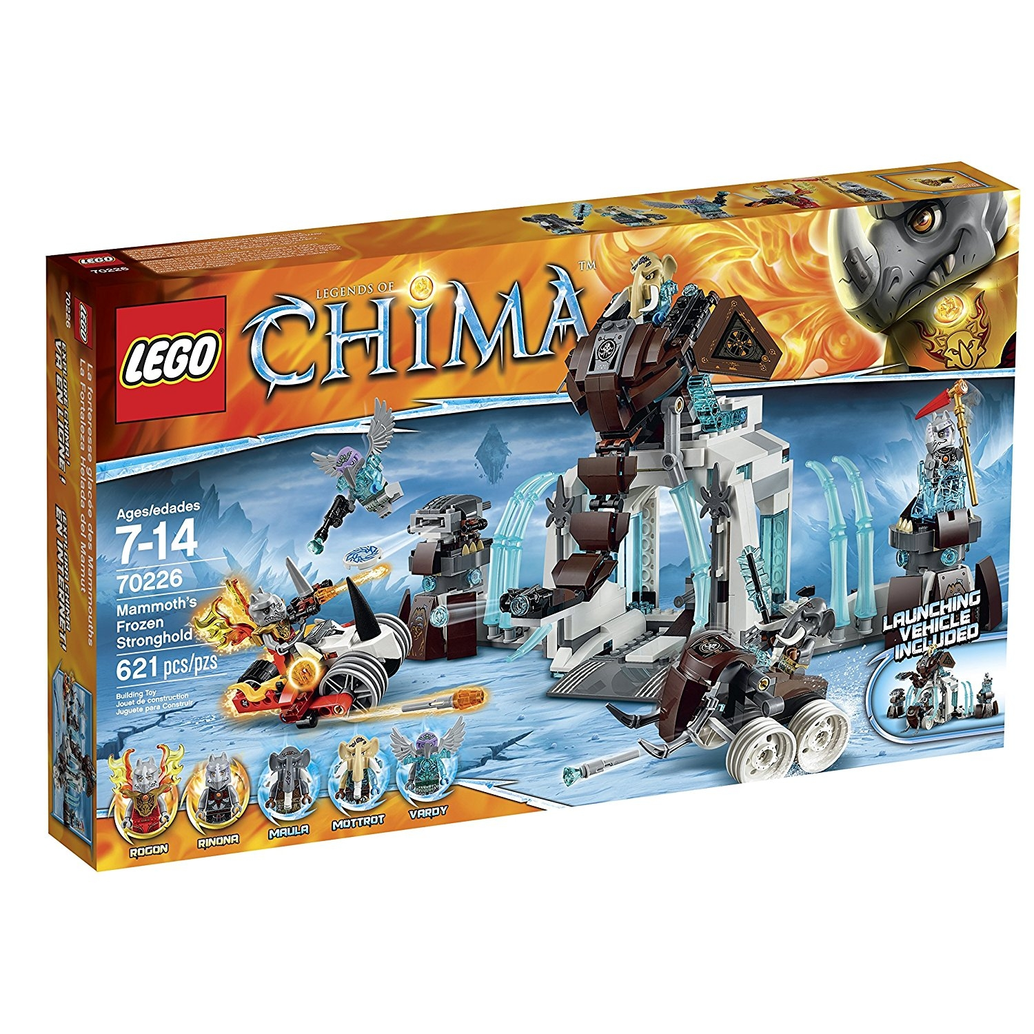 Lego Legends of Chima 70226 Mammoth's Frozen Stronghold B...
