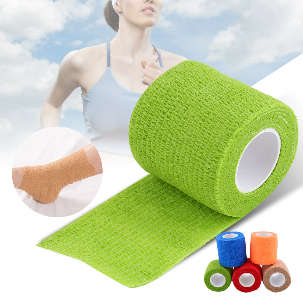 Dilwe 5 Rolls /Set Waterproof Self Adhesive Bandage Tape Finger Joints Wrap Sports Care,Waterproof Bandage ,Self Adhesive Bandage