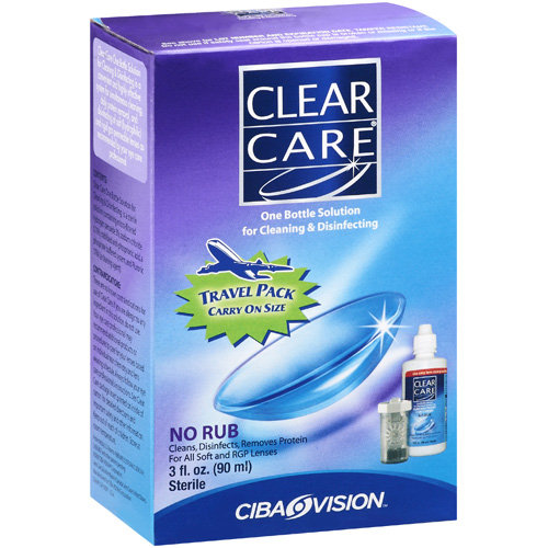 Clear Care: Clear Care One Bottle Cleaning & Disinfecting Solution, 3 Oz