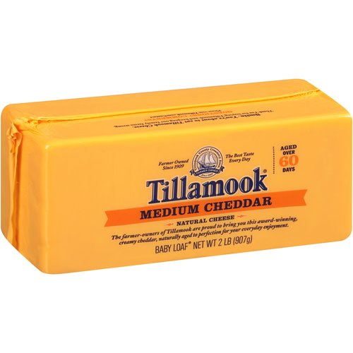 Tillamook Medium Cheddar Cheese, 2 lb