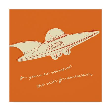 Trademark Fine Art 'Lunastrella Flying Saucer' Canvas Art by John W. - Lunastrella Flying Saucer