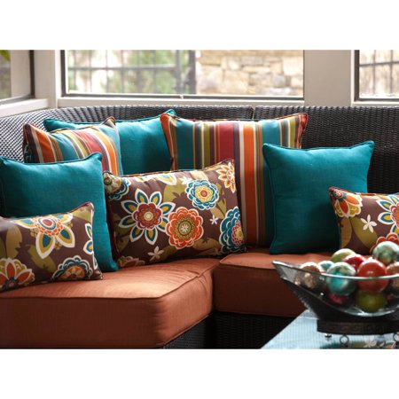 Pillow Perfect Outdoor/ Indoor Annie|Westport Reversible Rectangle Throw Pillow (Set of 2)