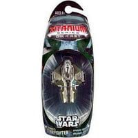 Star Wars Titanium Series 2006 Anakin's Jedi Starfighter Diecast Vehicle [Green Trim,]