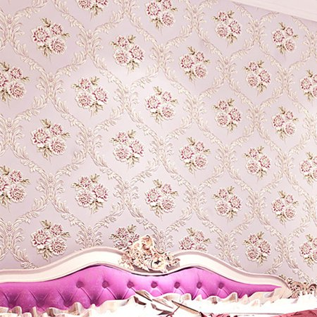 Garden Flower Purple & Yellow Wallpaper - 21 x 374 Inches - Perfect for DIY Home Decorating