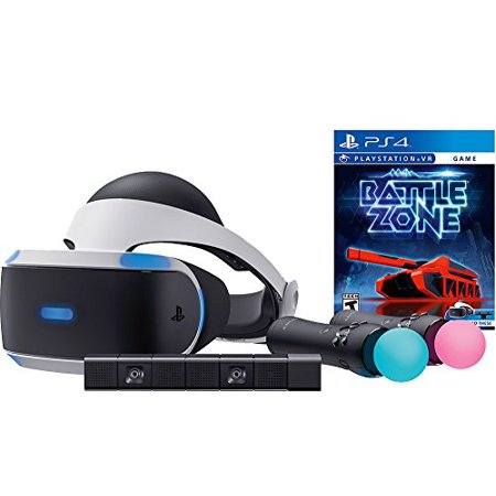 Sony PlayStation VR Battlezone Starter Bundle 4 items:VR Headset,Move Controller,PlayStation Camera Motion Sensor, PSVR Battlezone