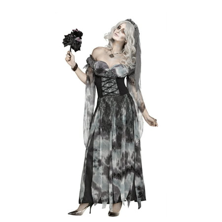 W STARLIGHT BRIDE ADULT HALLOWEEN COSTUME - Undead Bride Halloween Costume