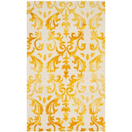 Safavieh Dip Dye 5' X 8' Hand Tufted Rug in Ivory and Gold - image 1 de 10