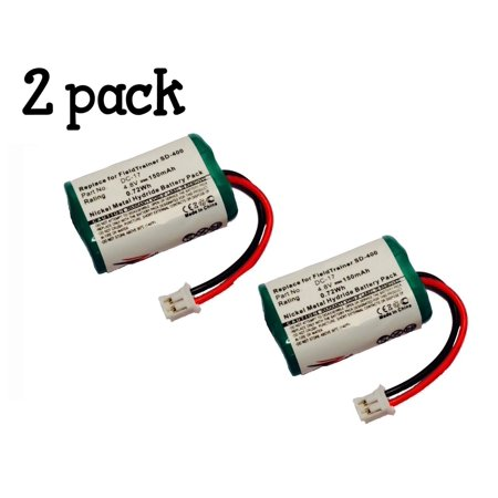 2-Pack ZZcell Battery For SportDog 650-058 / DC-17 / SD-800 KINETIC MH120AAAL4GC Dogtra FieldTrainer SD-400, SD-800 Receiver SD-400S, WetlandHunter Camo Dog Collar 150mAh