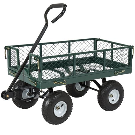 Best Choice Products 400lb Steel Garden Cart w/ Handle ()