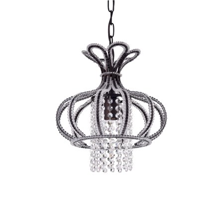 Nangel 1-Light Chandelier Antique Bronze Crystal (The Crystal Chandeliers Light Up The Paintings)