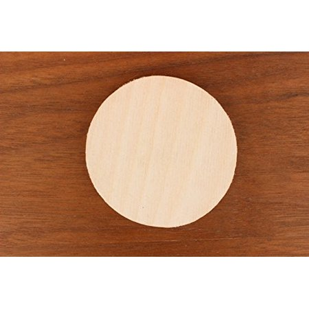 WOODNSHOP Circle Wood 1/8 x 1 PKG 25 Laser Cut Wooden (Best Way To Cut A Circle In Wood)