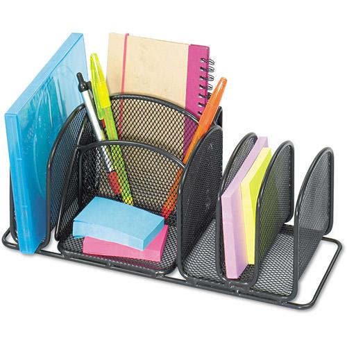 Safco Deluxe 6-Compartment Organizer, Steel