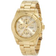crystal watches for men invicta 1774 men s pro diver gold tone stainless steel chronograph dive watch