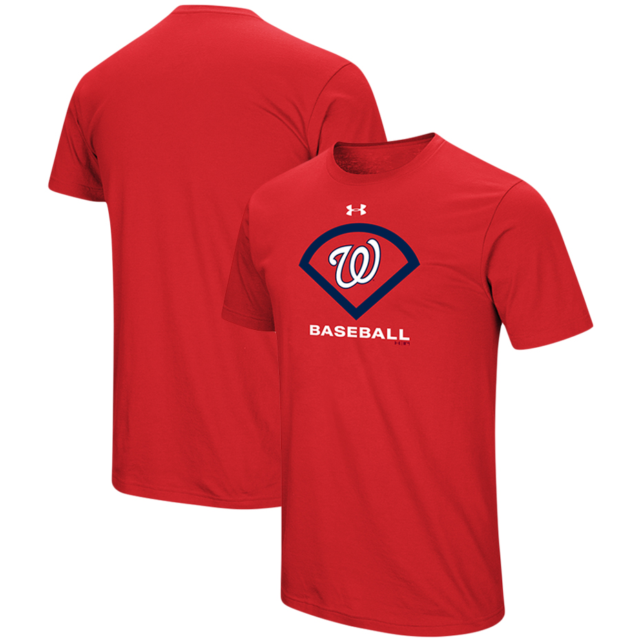 Washington Nationals Under Armour Performance Icon T-Shirt - Red