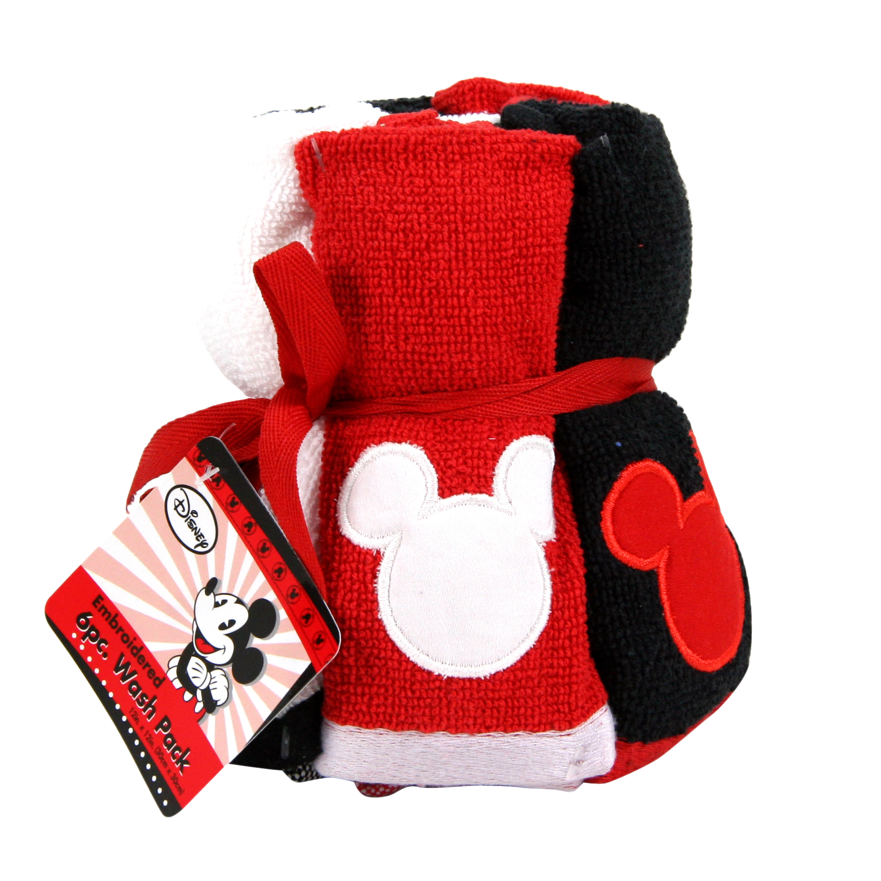 Disney Mickey Mouse Washcloth Bundle, Set of 6