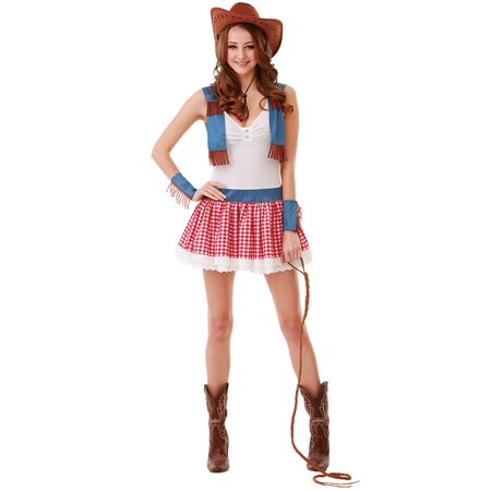 Boo! Inc. Country Cowgirl Halloween Costume for Women | Sexy Wild West Dress Up Outfit - Wild West Outfits For Ladies