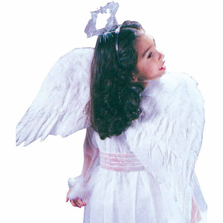 Black Angel Wings with Feathers Child Halloween - Kids Angel Wings