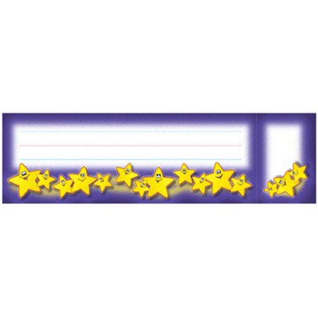 NORTH STAR TEACHER RESOURCE NST5008 SEAT AND CUBBY SIGNS SMILEY STARS - image 1 of 1