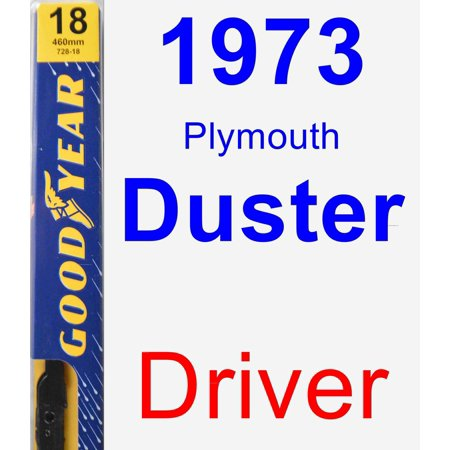 1973 Plymouth Duster Driver Wiper Blade - Premium (1973 Plymouth Duster)