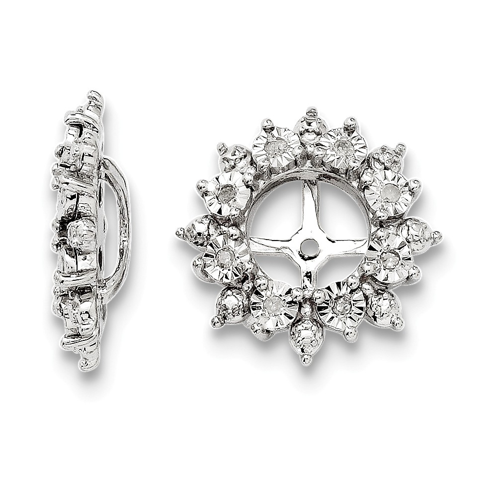 Sterling Silver Diamond Earring Jacket