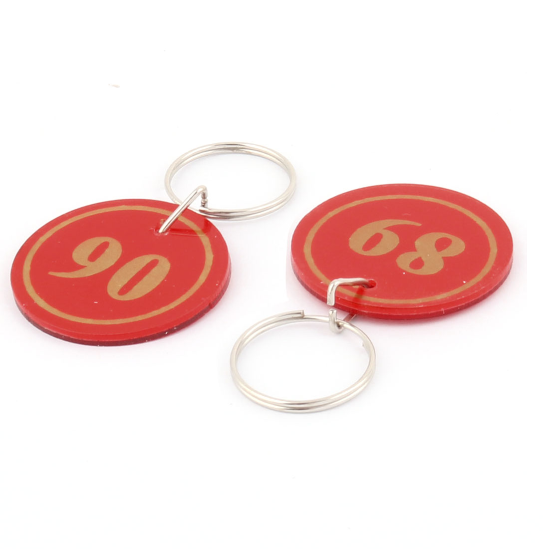 Plastic Round Shape Suitcase Luggage Package Split Ring Key Tags Label 50 Pcs - image 2 de 3