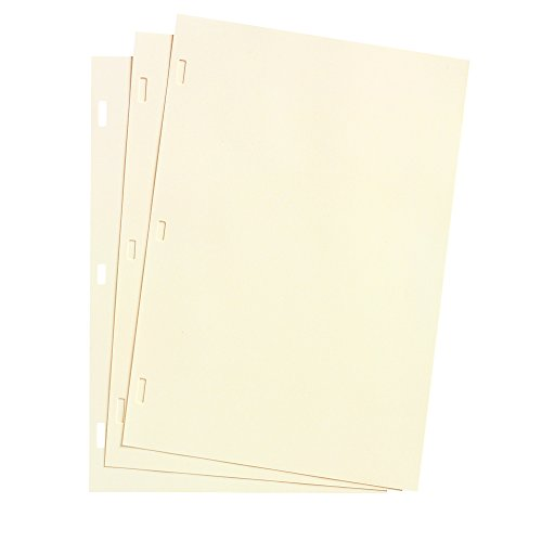 Acco Looseleaf Minute Book Ledger Sheets, Ivory Linen, 14...