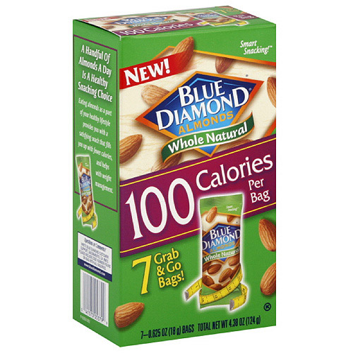 Blue Diamond Grab & Go Almonds, 18g, 7ct, (Pack of 6)